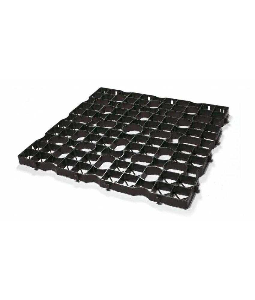 Grastegel zwart ECCOdal 80 x 80 x 4 cm   Grasplaat