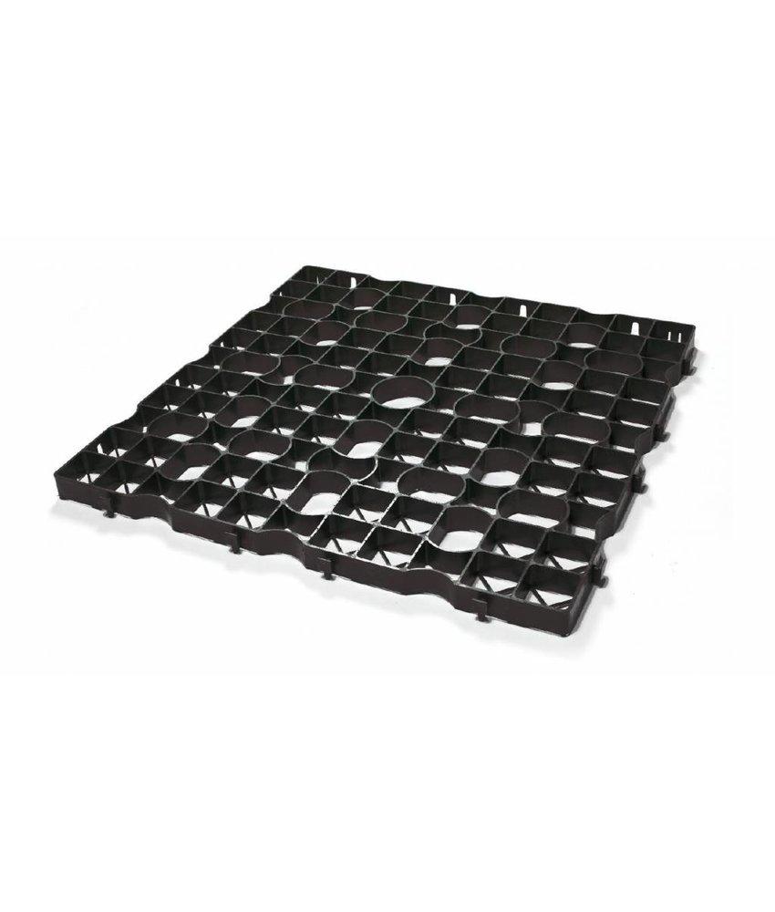 Grastegel zwart ECCOdal 80 x 80 x 5 cm