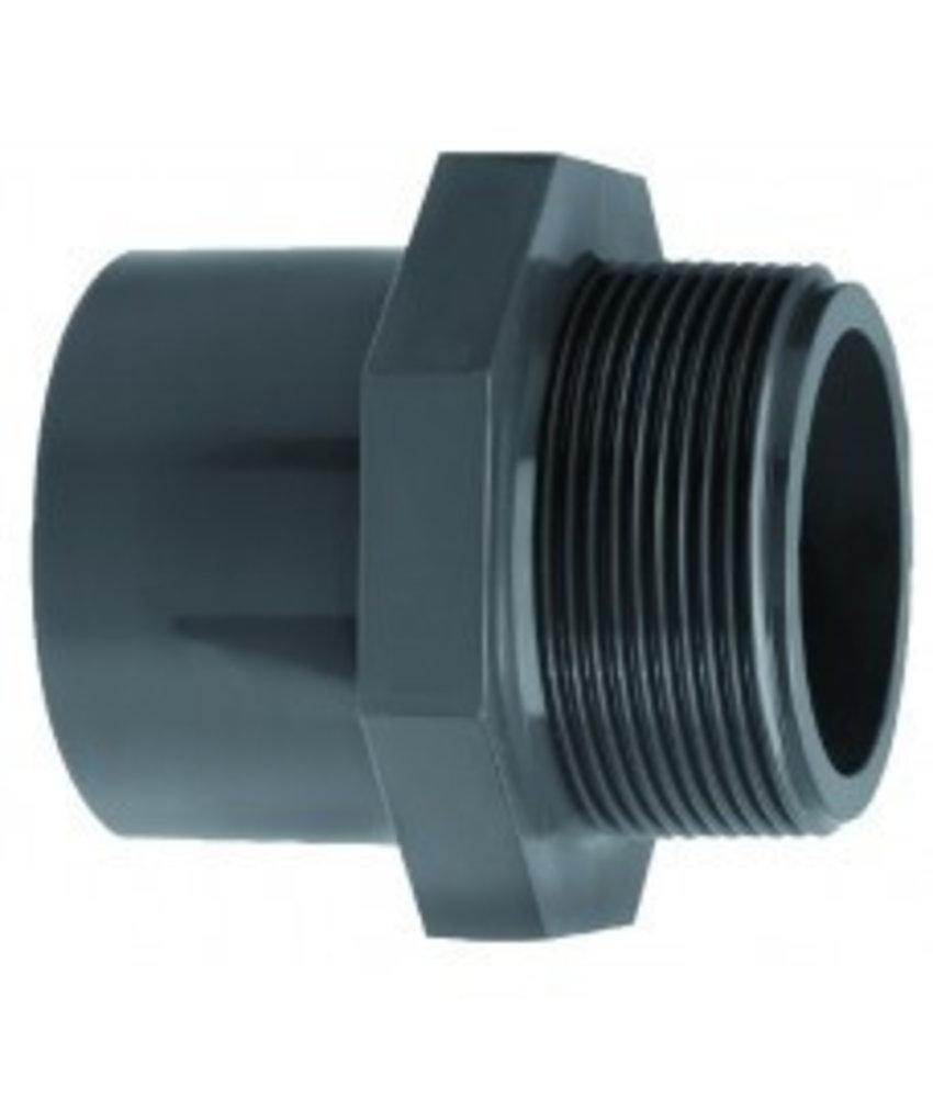 VDL PVC inzetpuntstuk zes-achtkant lijm 50 x 1 1/4'' PN16