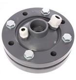 PVC bronkop / putdeksel 125mm (1¼'' / 50 mm doorvoer)