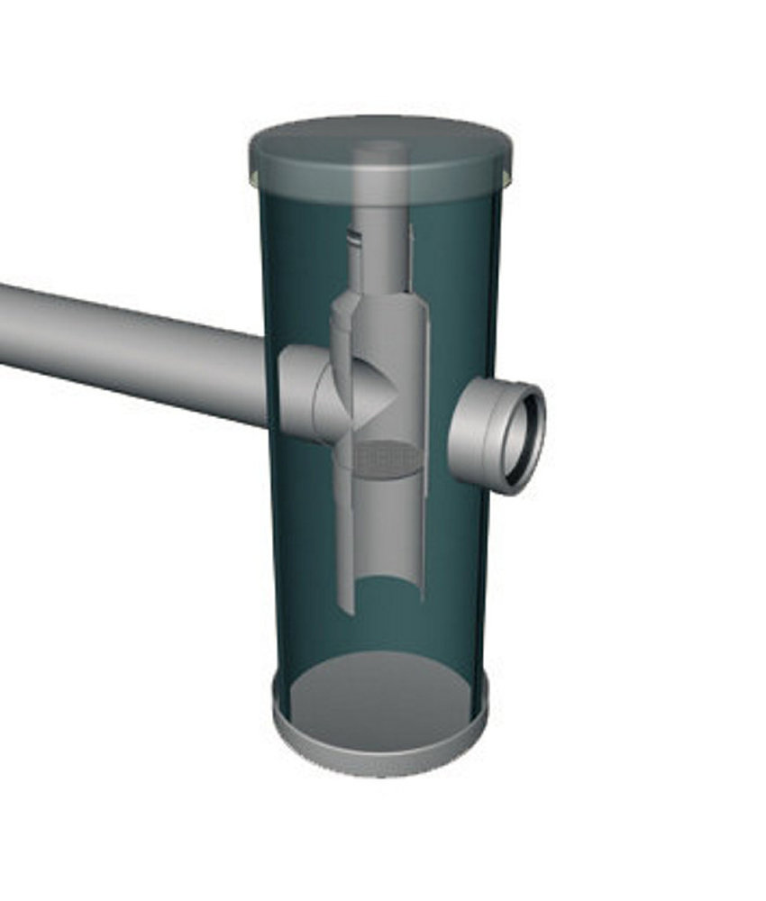 HeitkerBloc Kunststof zandvangput, voorzien van kunststof deksel, 2x 125 mm