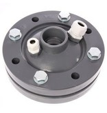 PVC bronkop / putdeksel 110mm (1 1/2'' / 40 mm doorvoer)
