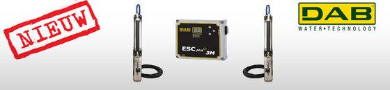 DAB S4 T 400V bronpomp 4'' kit + ESC Plus bediening