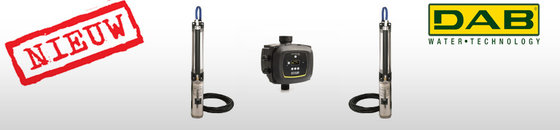 DAB S4 M 230V bronpomp 4'' kit + Active Driver bediening