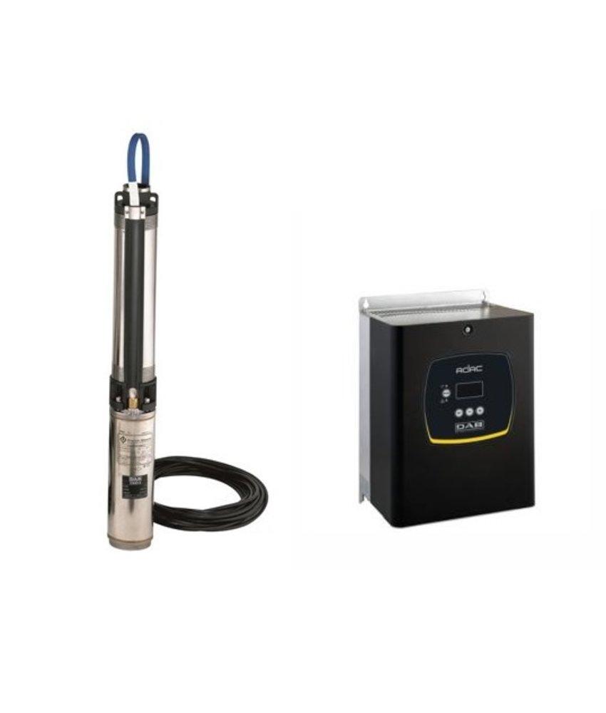 DAB S4 8/9 2HP KIT T400/50 4OL bronpomp set+ DAB ADAC frequentieregelaar T/T 3,0 AC