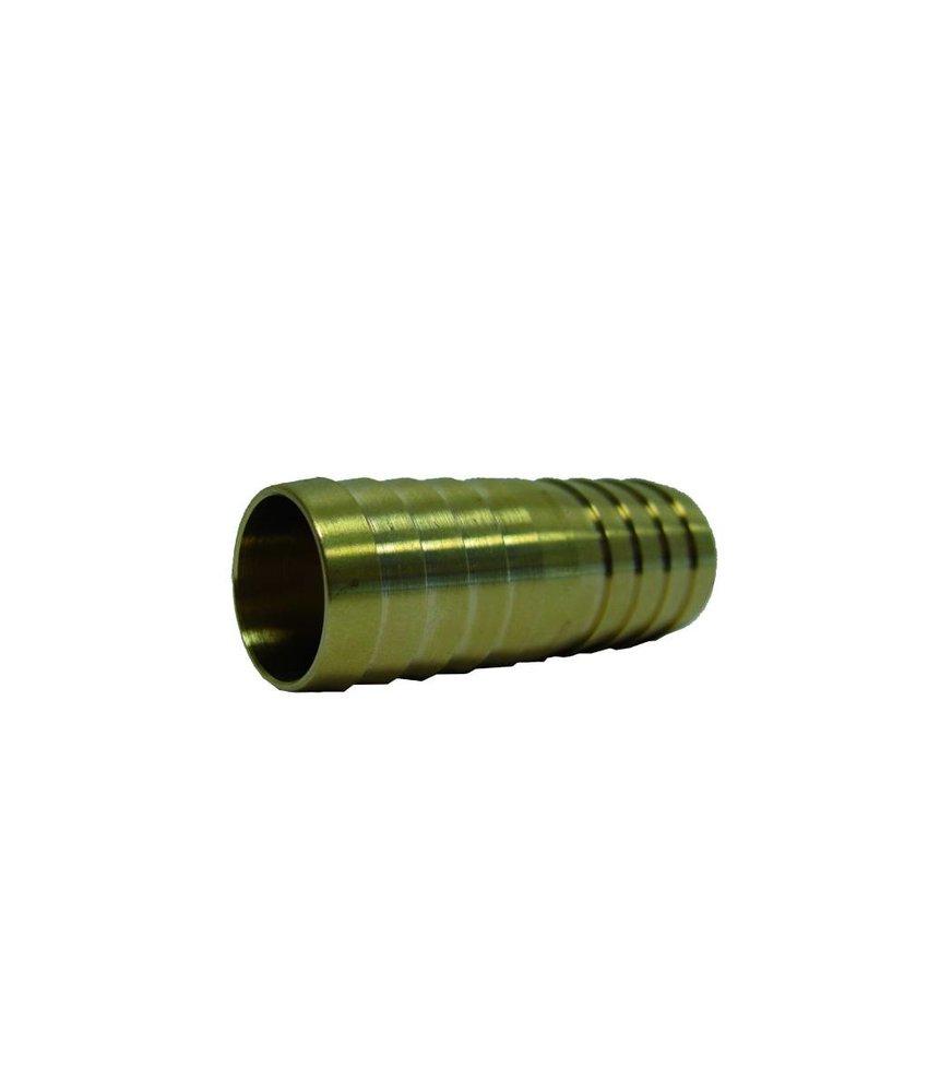 38 mm messing slangkoppeling 2 x slangtule