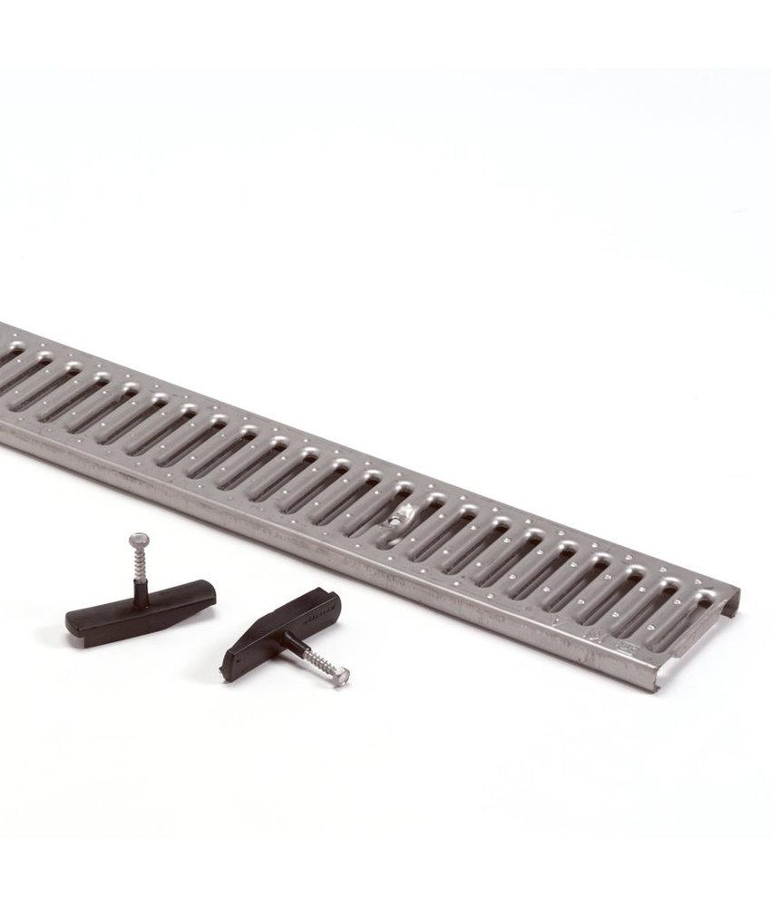 Anrin sleufrooster RVS type KE-100 met TwistLock L= 100 CM