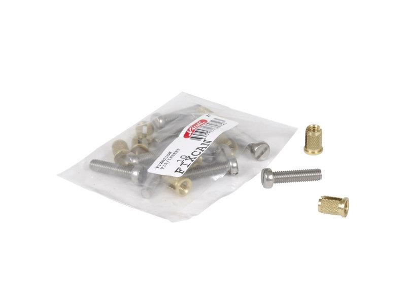 Nicoll montagemateriaal á 12 stuks FIXCAN2 voor kunststof rooster type Connecto 200