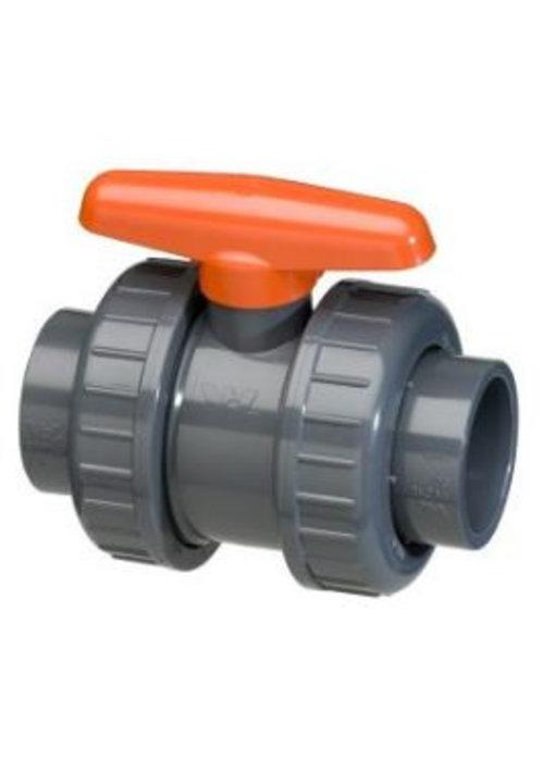 VDL PVC kogelkraan 40 mm dubbele wartel