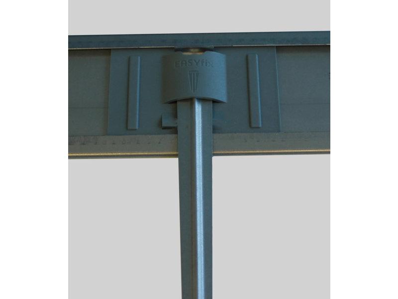IrriTech Easyfix 100 cortenstaal L = 2,4 meter / Pakket 6 stuks