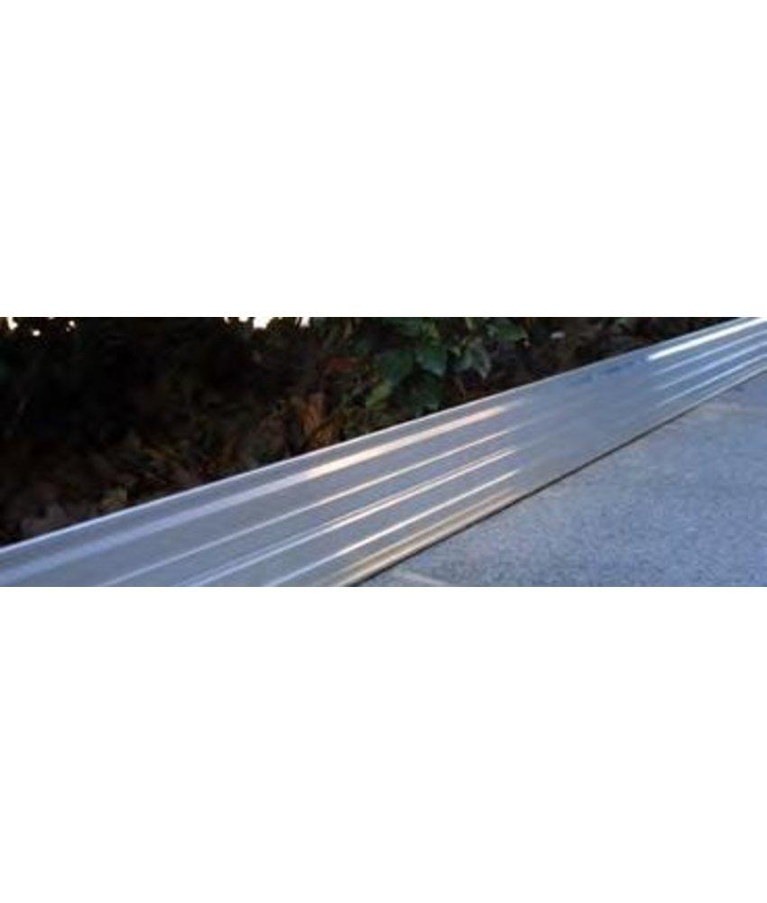 IrriTech Alubord 100  aluminium L = 2,40 meter / Pakket 5 stuks