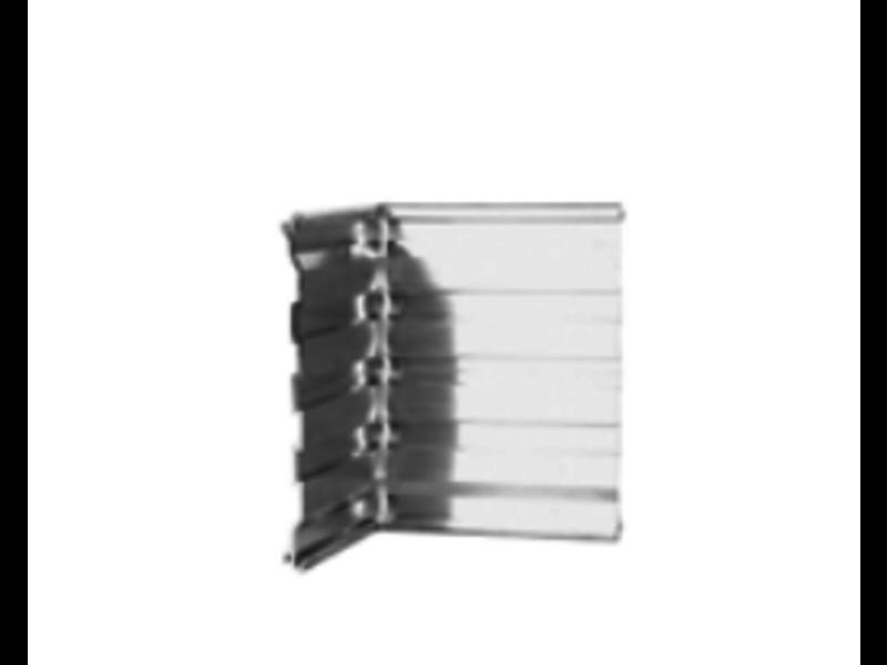 IrriTech Alubord 100  aluminium hoekstuk 90°