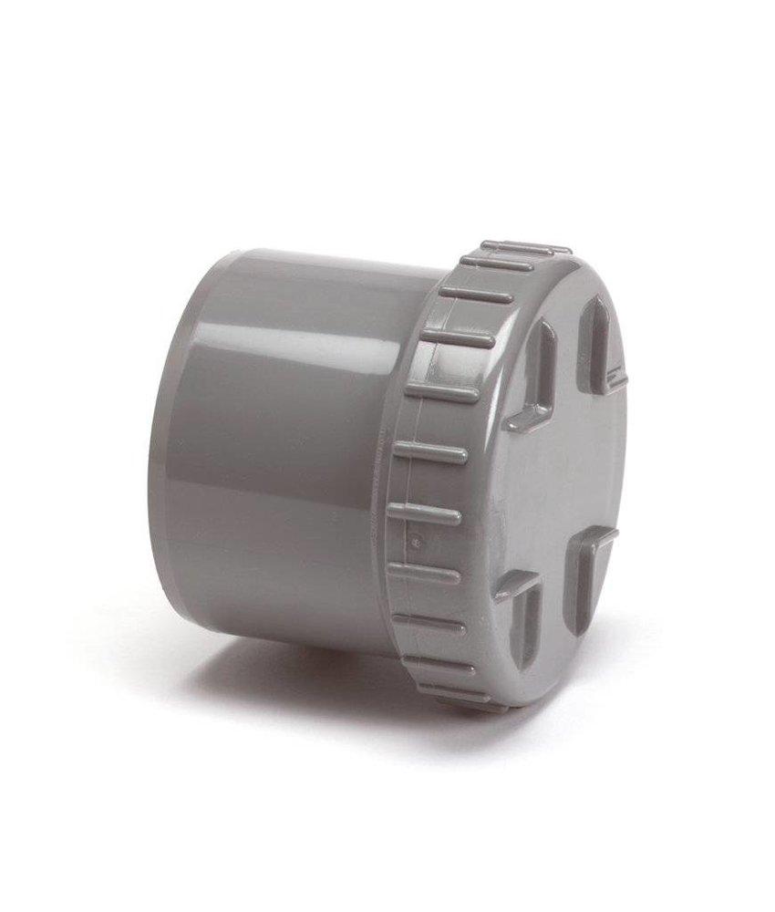 PVC eindstuk met schroefdeksel, 1x uitwendig lijm - 75mm