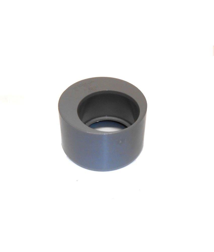 PVC Verloopstuk excentrisch 110 x 40
