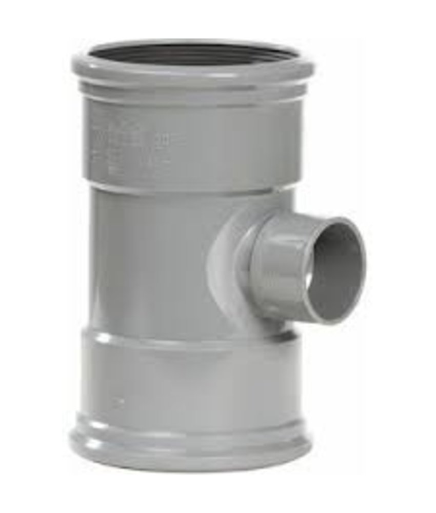 PVC T-stuk 88 graden SN4 110 x 75 mof/mof lijm