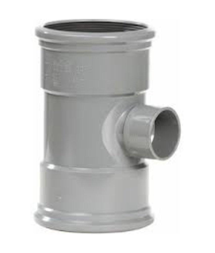 PVC T-stuk 88 graden SN4 125 x 50 lijmmof/lijmmof lijm