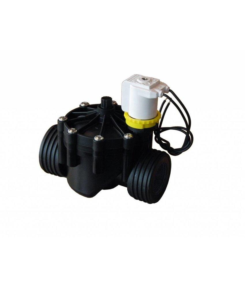 """RPE 1 ½"""" 230V magneetklep met flowcontrol"""