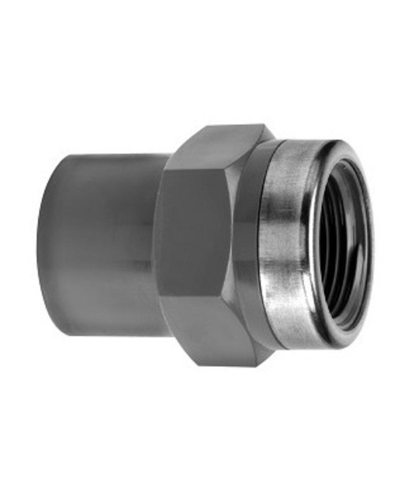 VDL PVC draadsok 40/50 mm x 1 1/2'' PN16 + ring