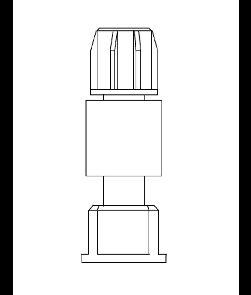 LEV manifold tussenstuk met kraan en 1'' wartel binnendraad