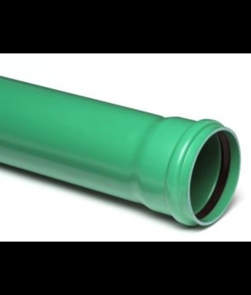 PVC afvoerbuis Ø 110mm SN4 groen met manchetmof
