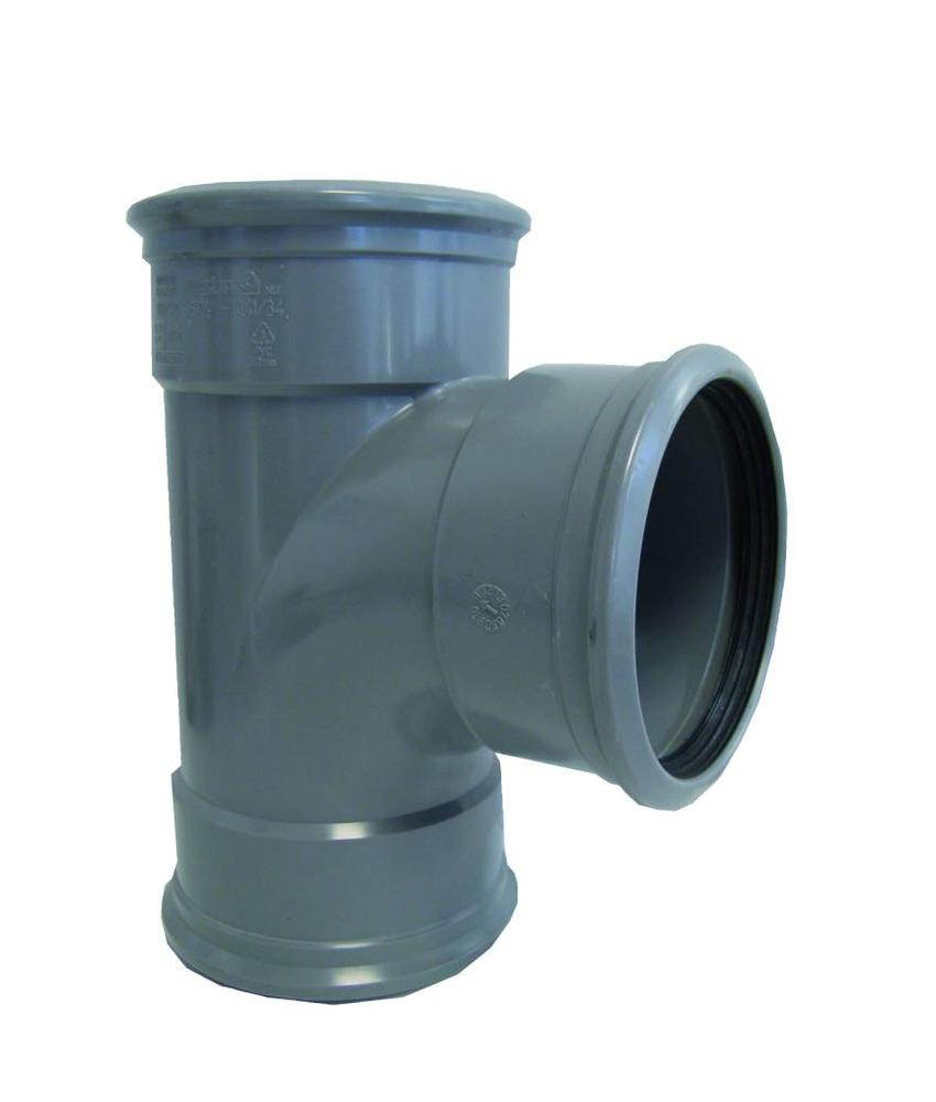 PVC T-stuk 88gr, Ø 125mm SN4 (3 x mof)