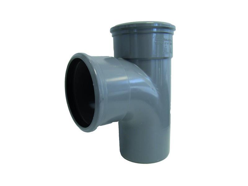 PVC T-stuk 88gr, Ø 110mm SN4 (2 x mof/spie)