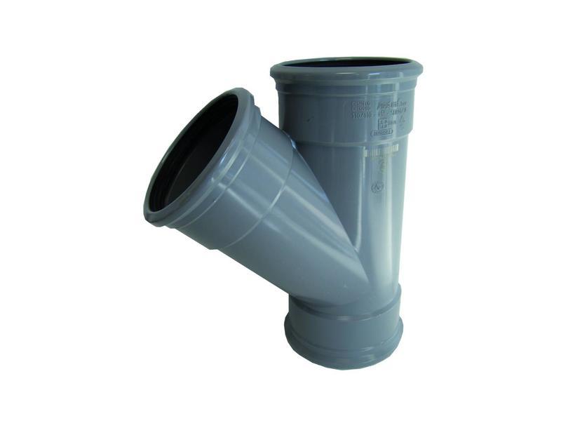 PVC  T-stuk 45gr, Ø 125mm SN8 (3 x mof)