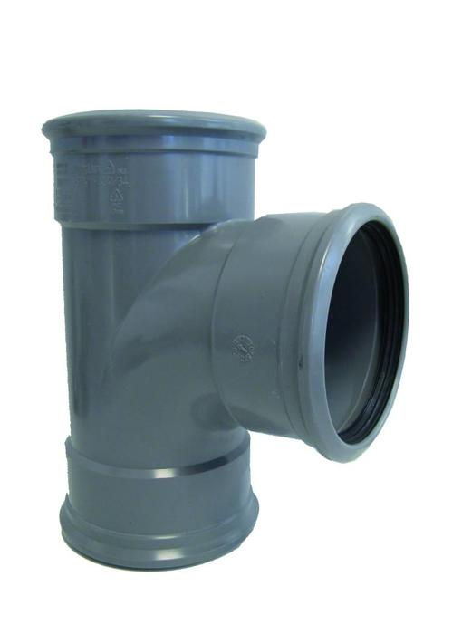 PVC T-stuk 88gr, Ø 125mm SN8 (3 x mof)