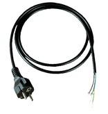 Kabel (3 x 1,0mm2) + aangegoten Eurostekker. Lengte 1,5 mtr