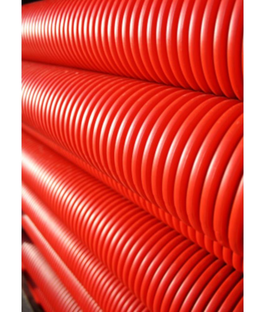 Kabelbeschermingsbuis rood Ø 125 MM L= 6 meter (rechte lengte)