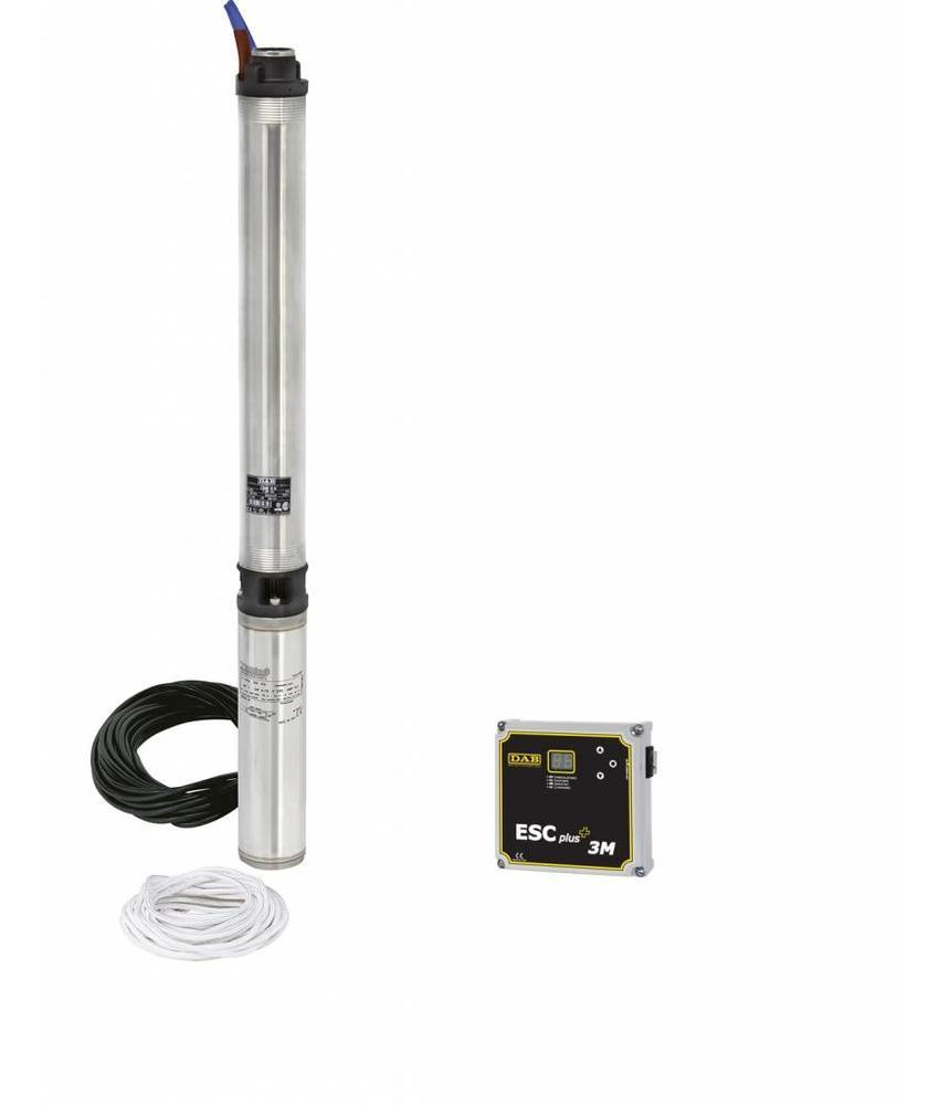 DAB S4D 17T KIT 400 volt bronpomp set + DAB ESC Plus 4T