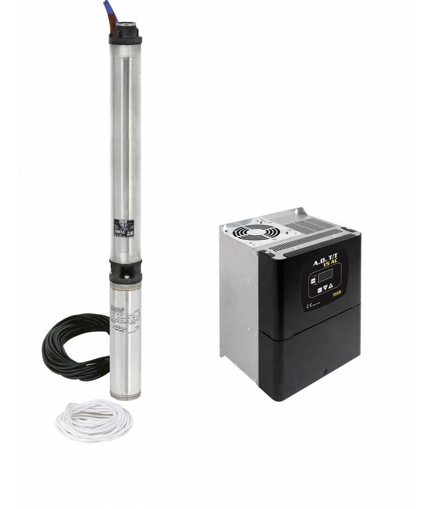 DAB S4F 13T KIT 400 volt bronpomp set + DAB ADAC frequentieregelaar T/T 4,0 AC