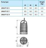 Grundfos Unilift CC 5 A1 dompelpomp met vlotter