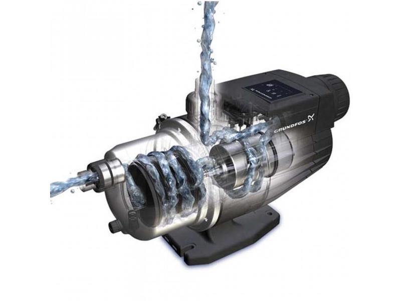 Grundfos MQ 3-45 drukverhogingspomp met AISI-316 motoras