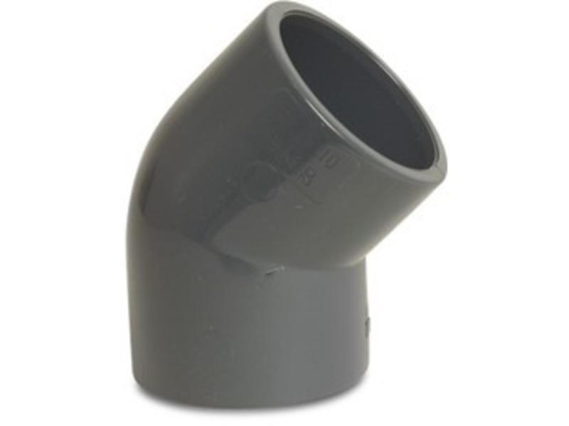 VDL PVC knie 45 graden Ø 50 mm, PN10