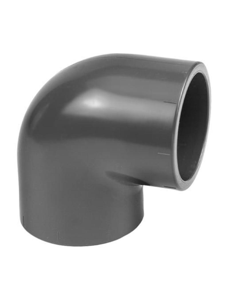 VDL PVC knie 90 graden Ø 75 mm, PN16