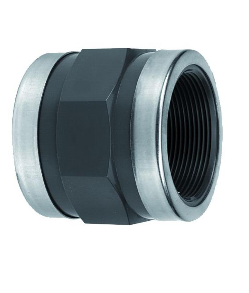 VDL PVC draadsok 2 1/2'' x 2 1/2'' PN10 + ringen