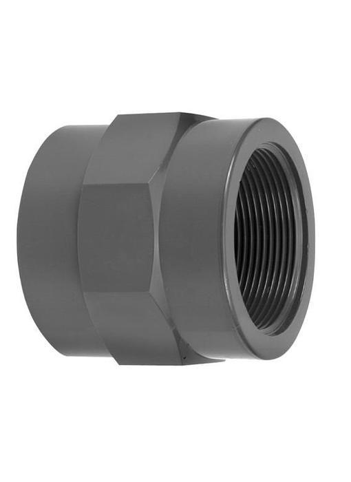 VDL PVC draadsok 25 mm x 3/4'' PN16 + ring