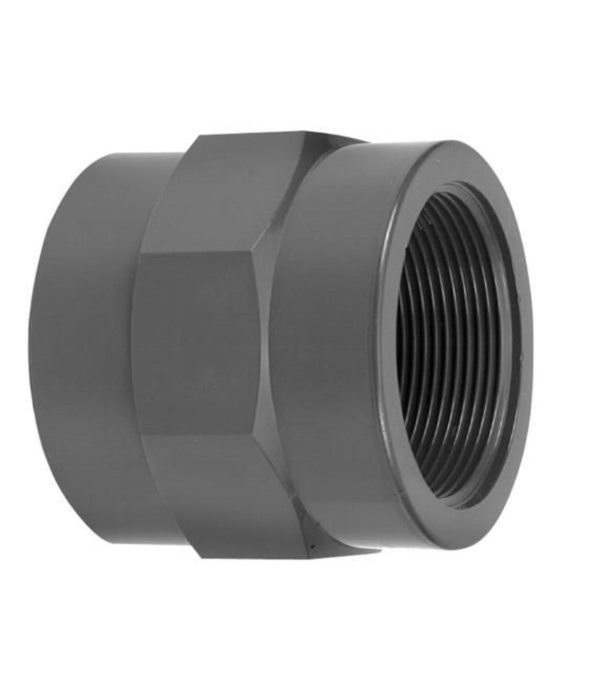 VDL PVC draadsok 63 mm x 1 1/2'' PN16