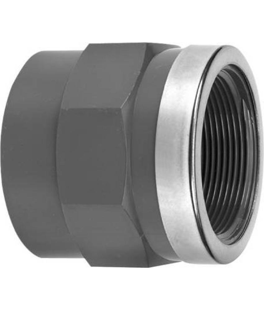 VDL PVC draadsok 63 mm x 2'' PN16 + ring