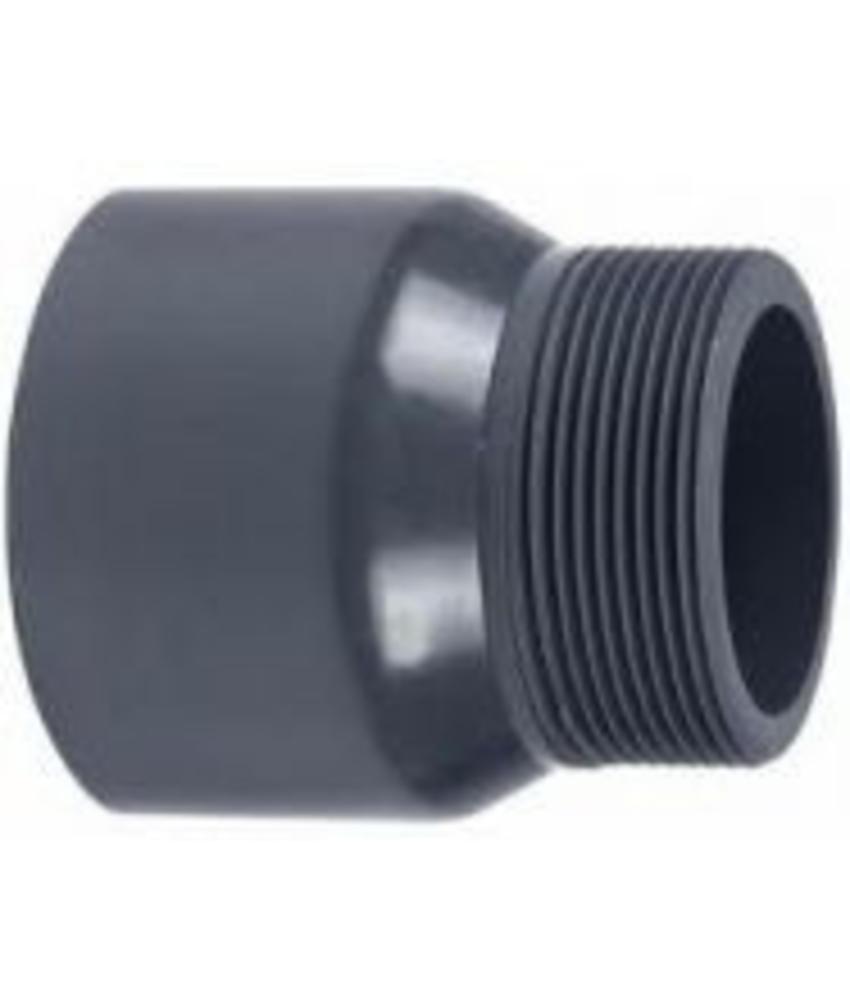 VDL PVC puntstuk handgevormd 75 x 1 1/4'' PN16