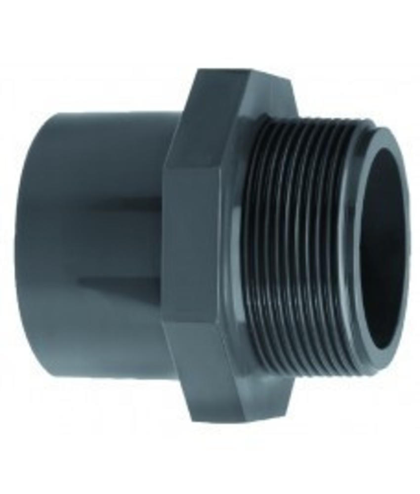 VDL PVC inzetpuntstuk zes-achtkant lijm 20 x 3/8'' PN16