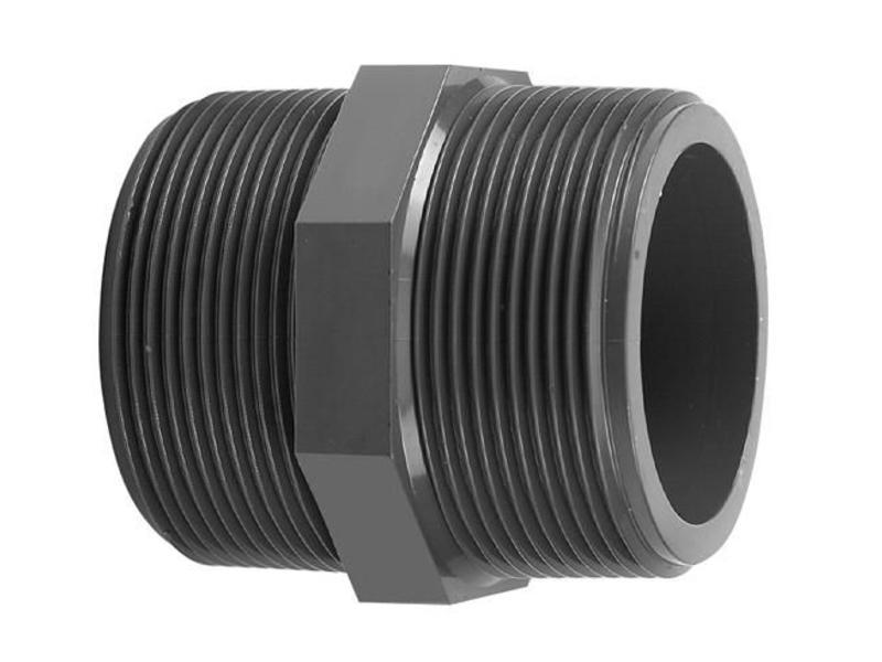 VDL PVC draadnippel 1'' x 1'' PN16