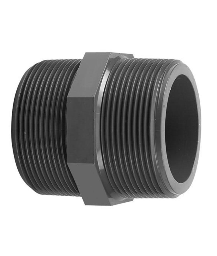 VDL PVC draadnippel 1 1/4'' x 1 1/4'' PN16