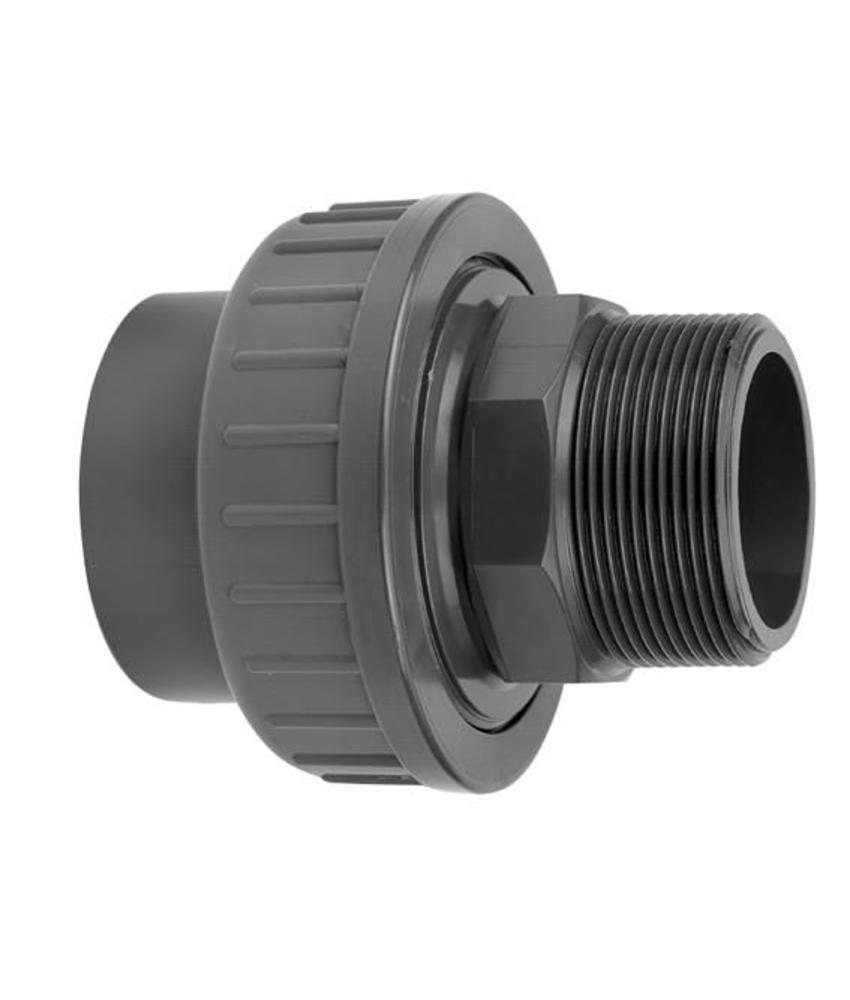 VDL PVC koppeling 50 x 1,5'' koppeling lijm- en buitendraadverbinding
