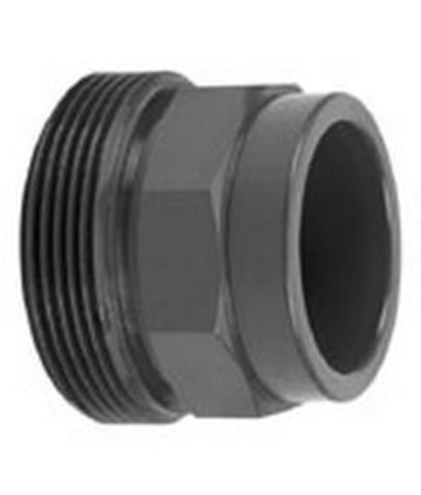 VDL PVC 75 mm draadeind lijm x buitendraad