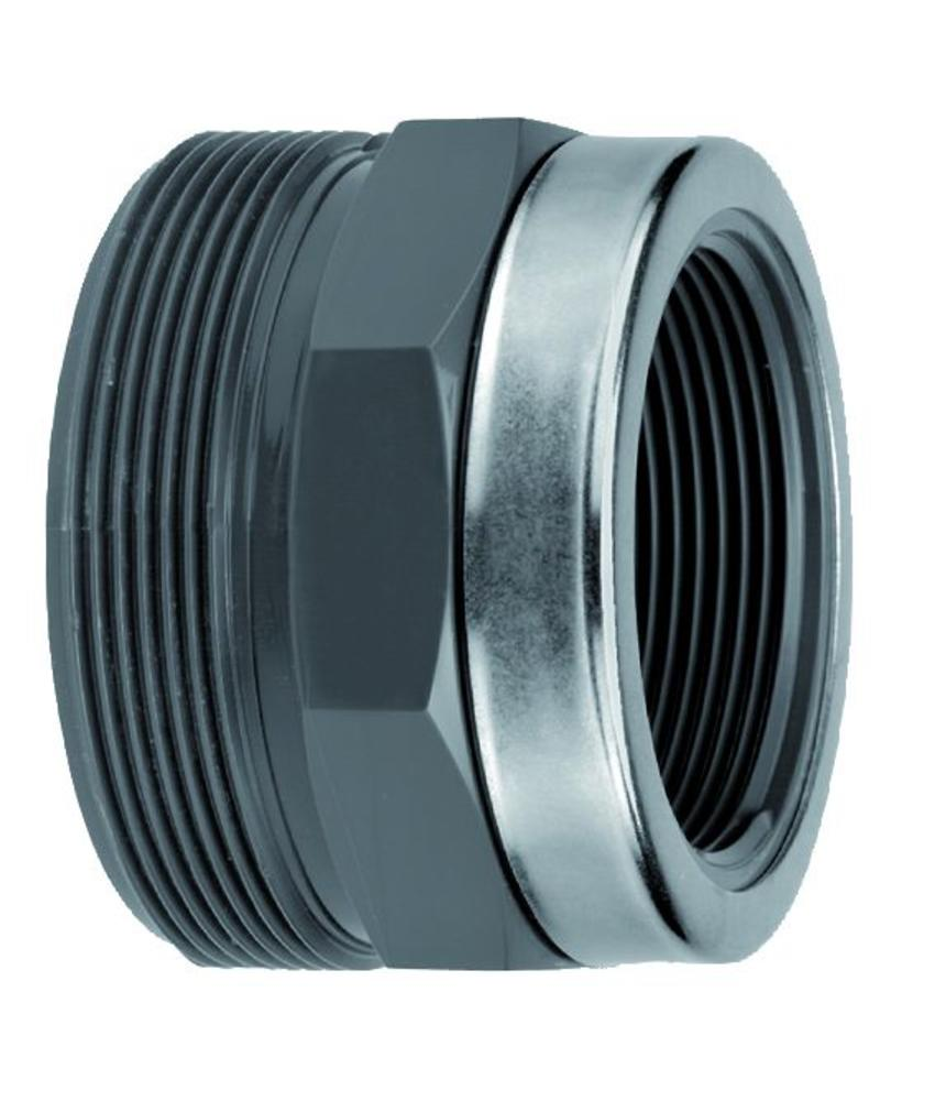VDL PVC 75 x 2'' draadeind diameter x binnendraad + ring