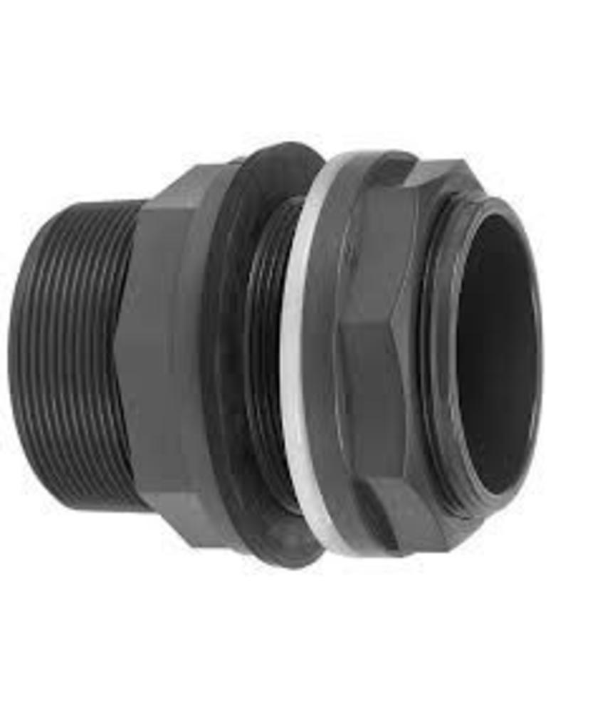VDL PVC 50 mm x 2'' x 2 1/4'' tankdoorvoerkoppeling