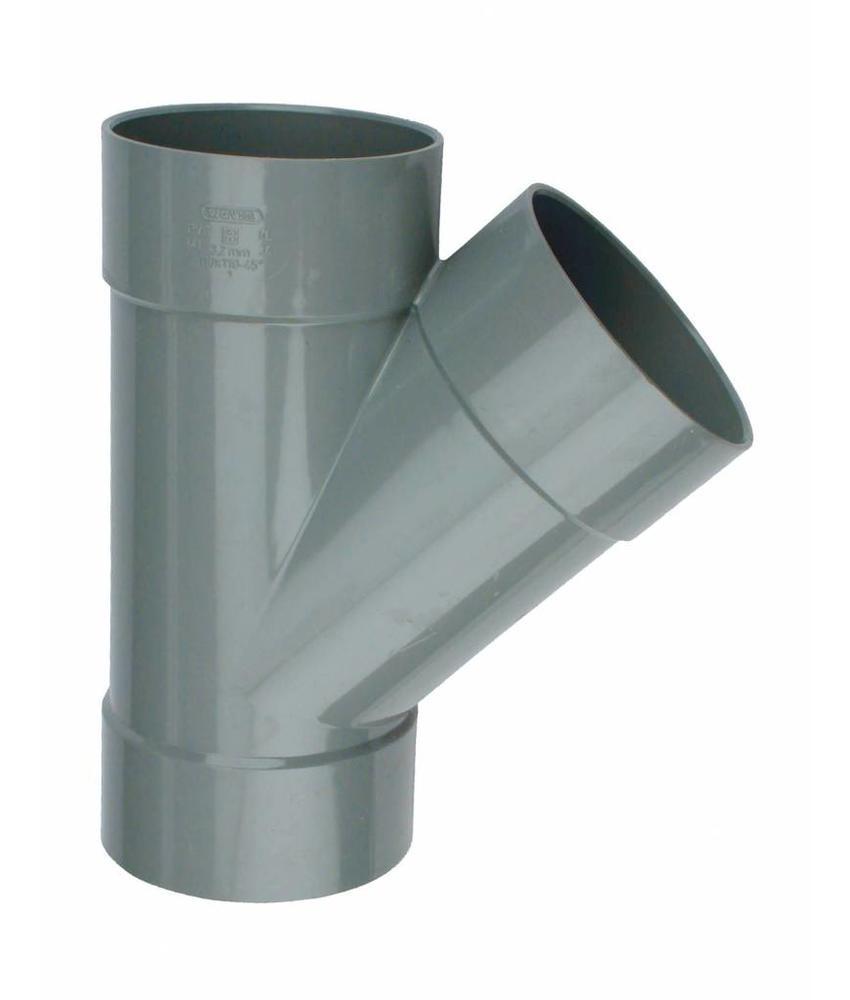 PVC T-stuk 88 graden SN4 160 x 125 lijmmof/lijmmof