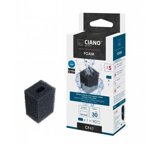 Ciano Filter Foam Small zwart CF40
